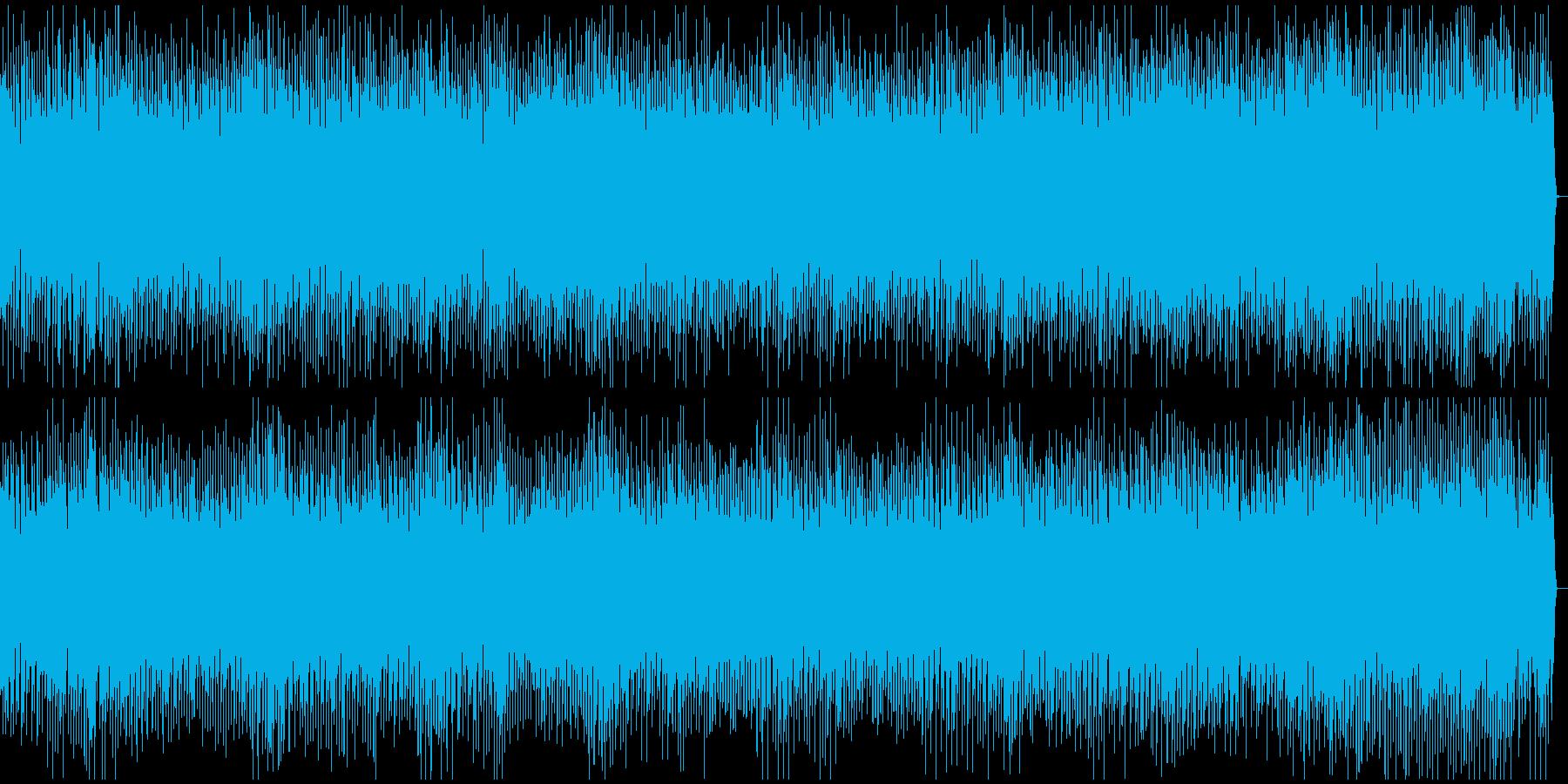 疾走感のあるカウボーイ風BGMの再生済みの波形