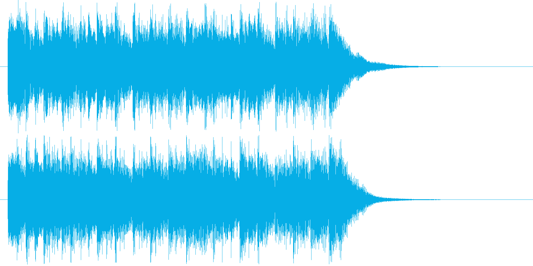 明るいポップなシンセサイザージングルの再生済みの波形
