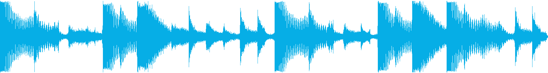 ドンドコドラムの再生済みの波形