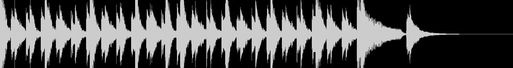 ピアノとベルのジングル 3拍子の未再生の波形
