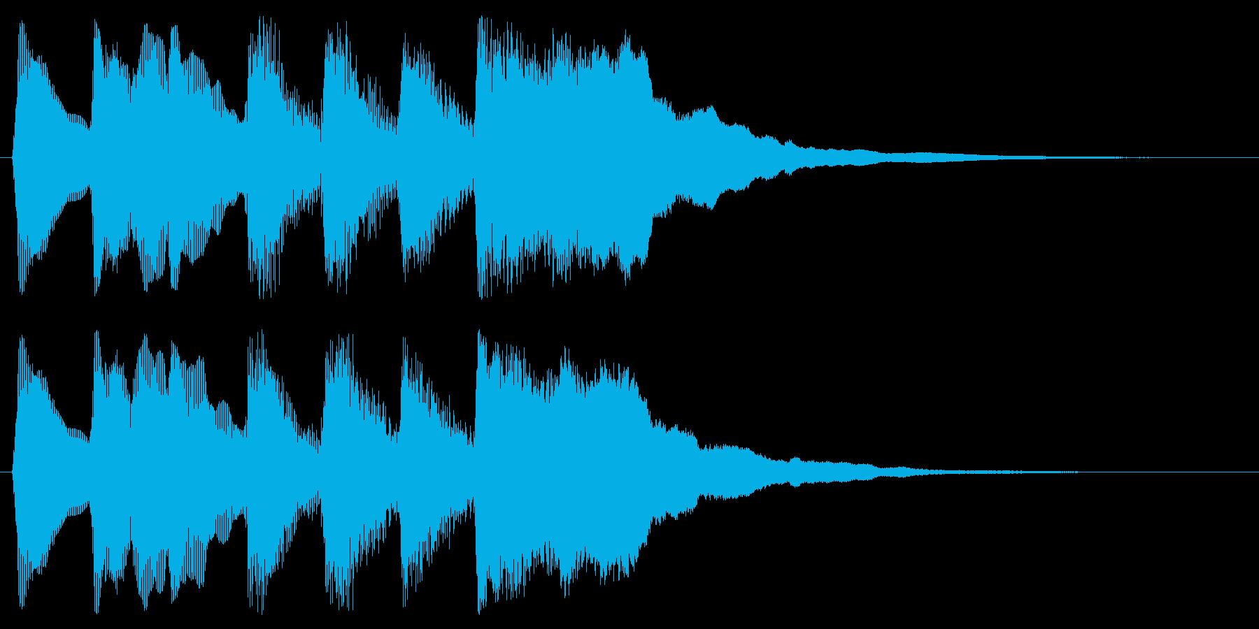 ファンファーレ 勝利 ゲームクリア 栄光の再生済みの波形