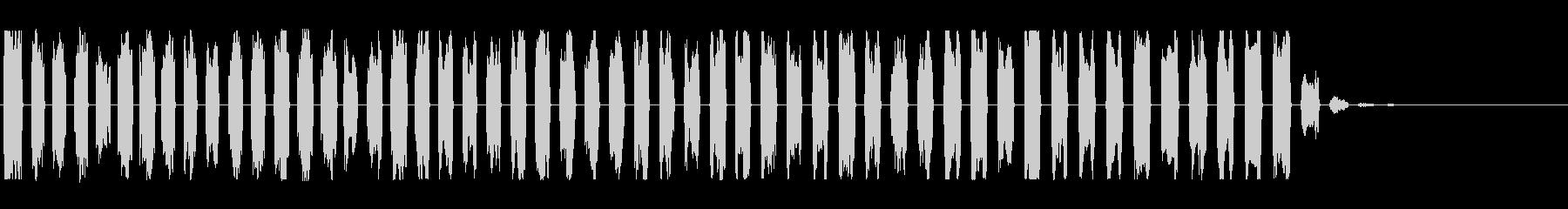 落下・低下をイメージした効果音の未再生の波形