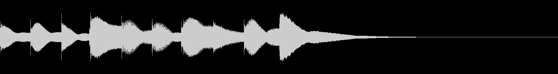 ジングル用オルゴール楽曲02-2の未再生の波形