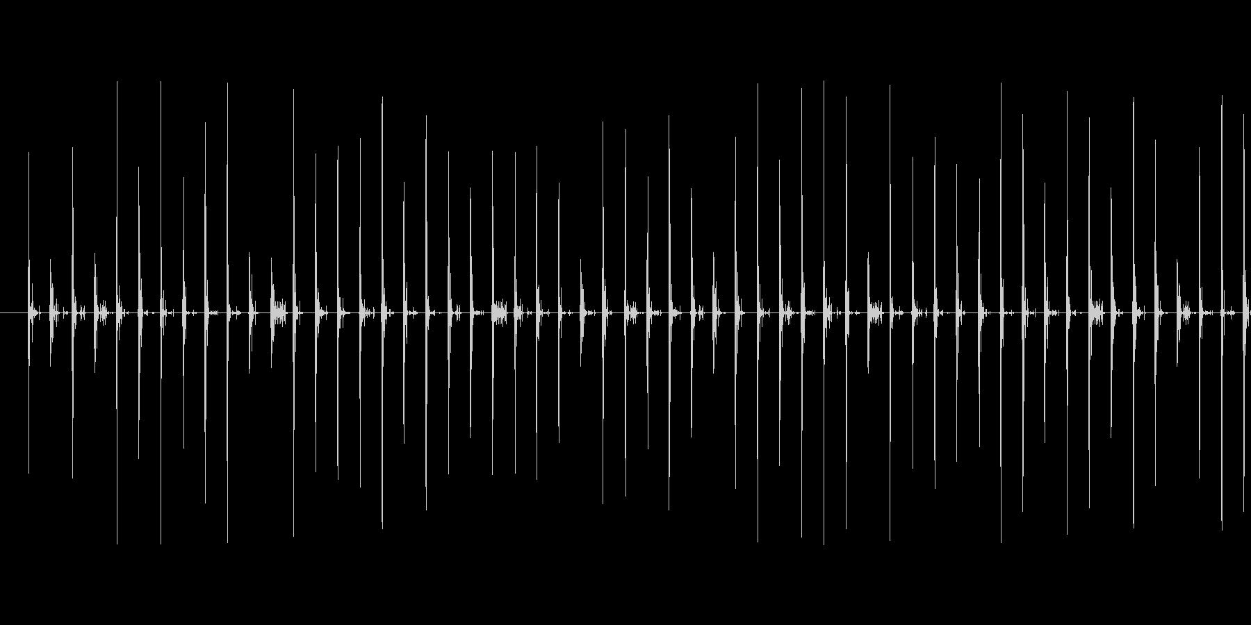 スニーカーで砂利道を歩く音の未再生の波形