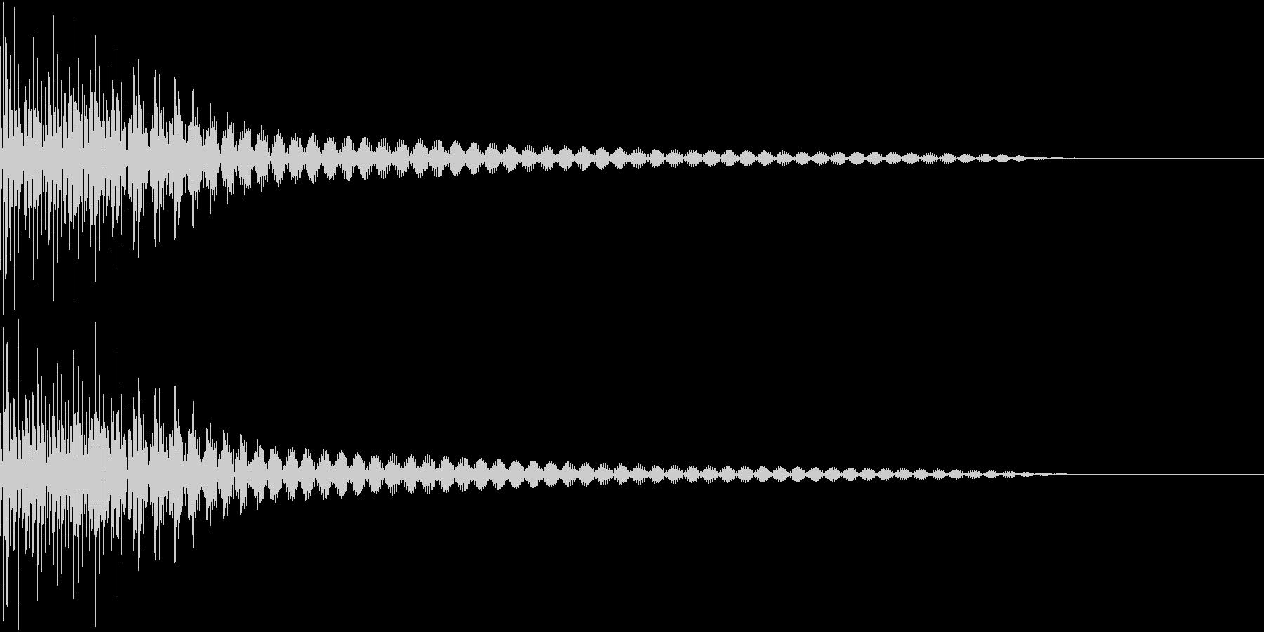 Cancel キャンセルコマンドSE 1の未再生の波形