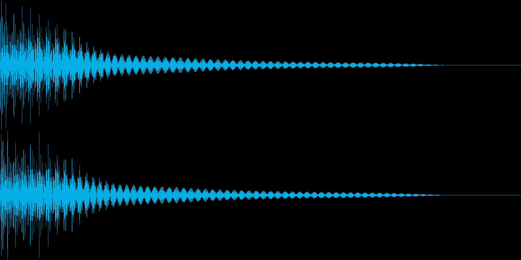 Cancel キャンセルコマンドSE 1の再生済みの波形