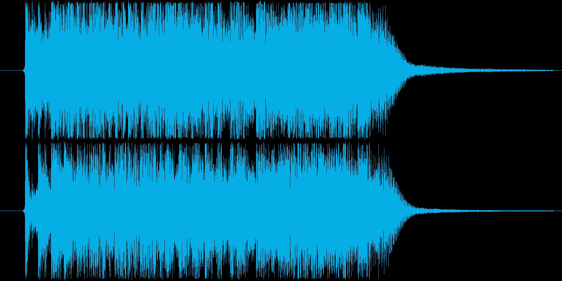 格闘・戦闘系イメージのメタル的ジングルの再生済みの波形