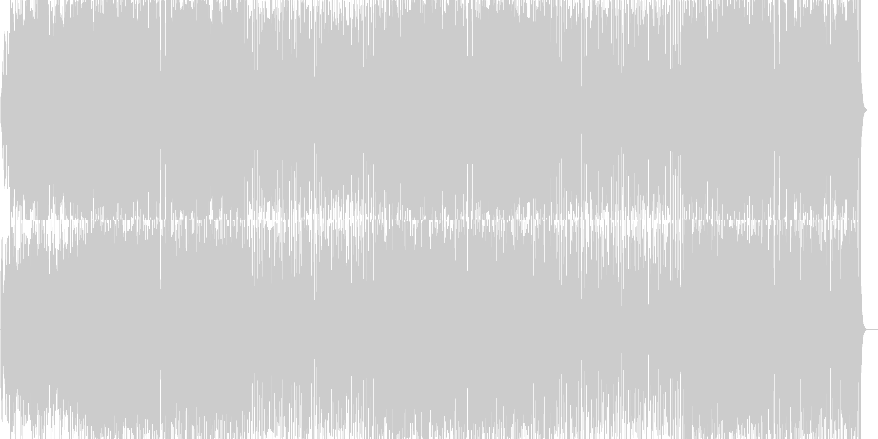 明るく軽快なシンセサイザーのポップの未再生の波形