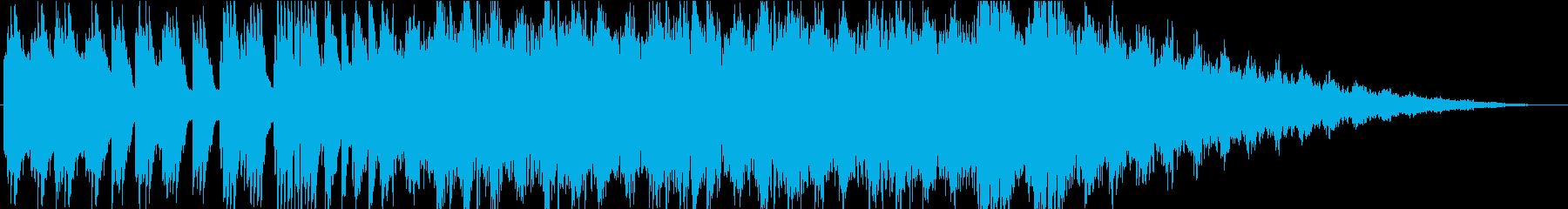 森で彷徨うような幻想的なピアノBGMの再生済みの波形