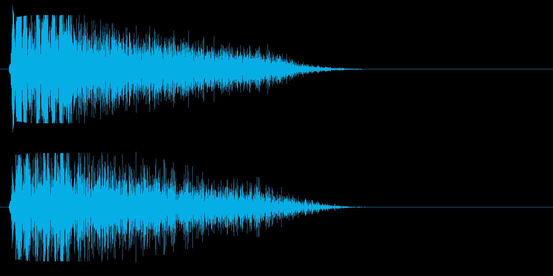 ぢゅっという短い蒸気の音。の再生済みの波形