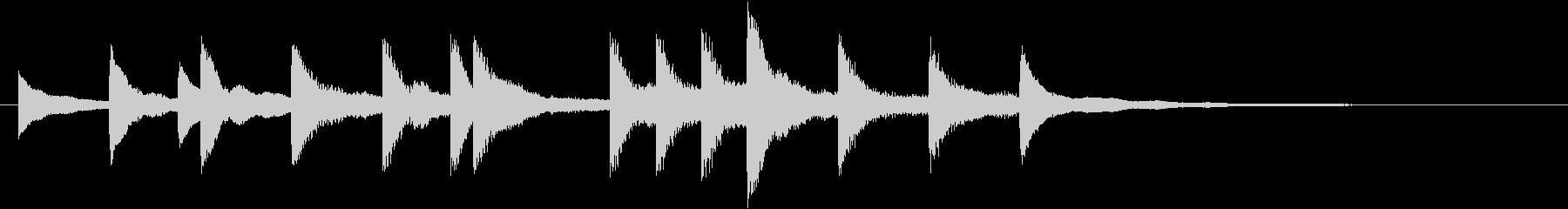 モミの木モチーフXmasピアノジングルCの未再生の波形