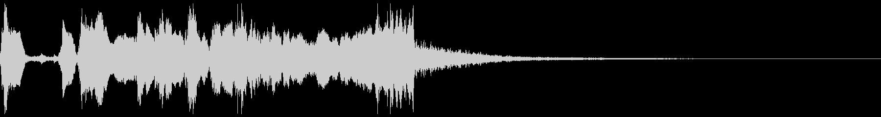 シンプルなファンファーレ2+Drの未再生の波形
