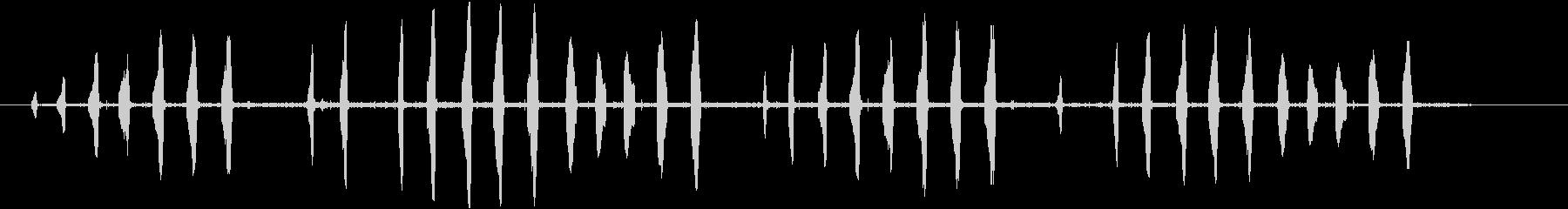 一般的なカエルの未再生の波形