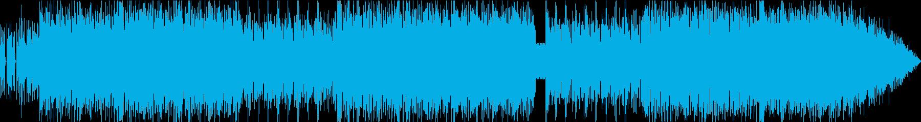 アコースティックなサウンドかつファンキーの再生済みの波形