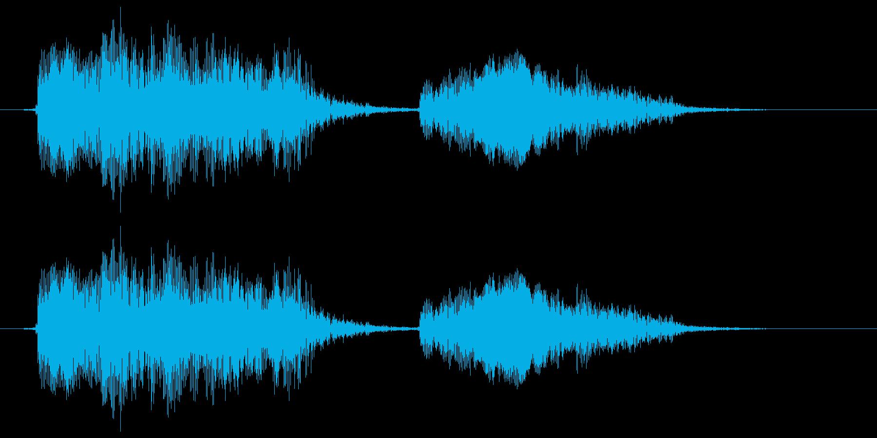 おもちゃのアヒル (ピ~プ~)の再生済みの波形