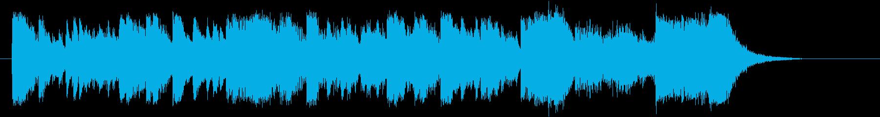 盛大で勢いあるオーケストラジングルの再生済みの波形