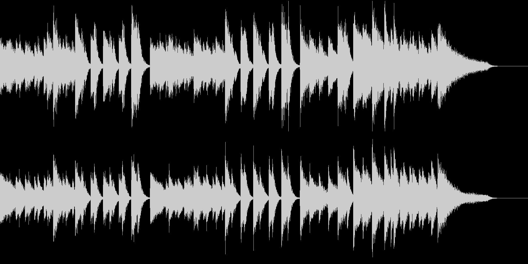 沖縄音階マイナー&クールなピアノジングルの未再生の波形