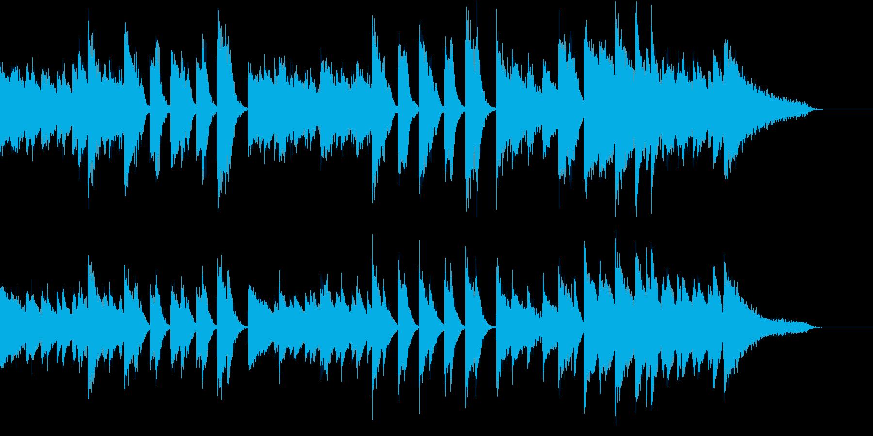 沖縄音階マイナー&クールなピアノジングルの再生済みの波形