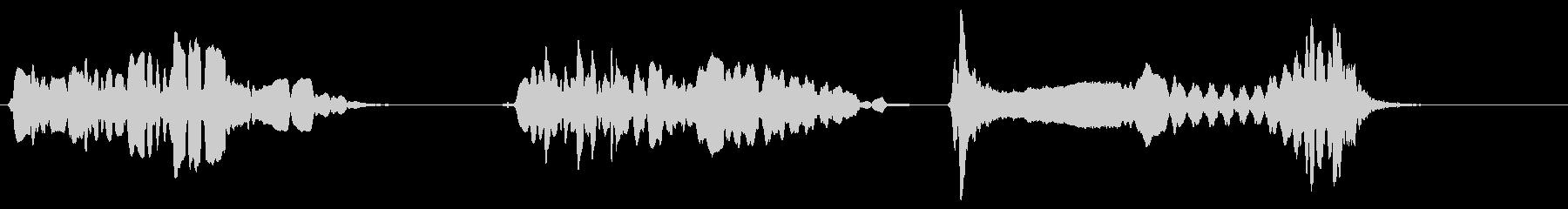 尺八 生演奏 古典風 残響音有 6の未再生の波形