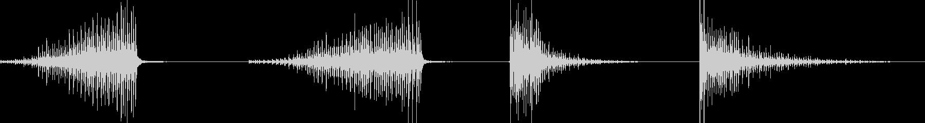 ドラム、スネア、ロール、ブラシ、4...の未再生の波形