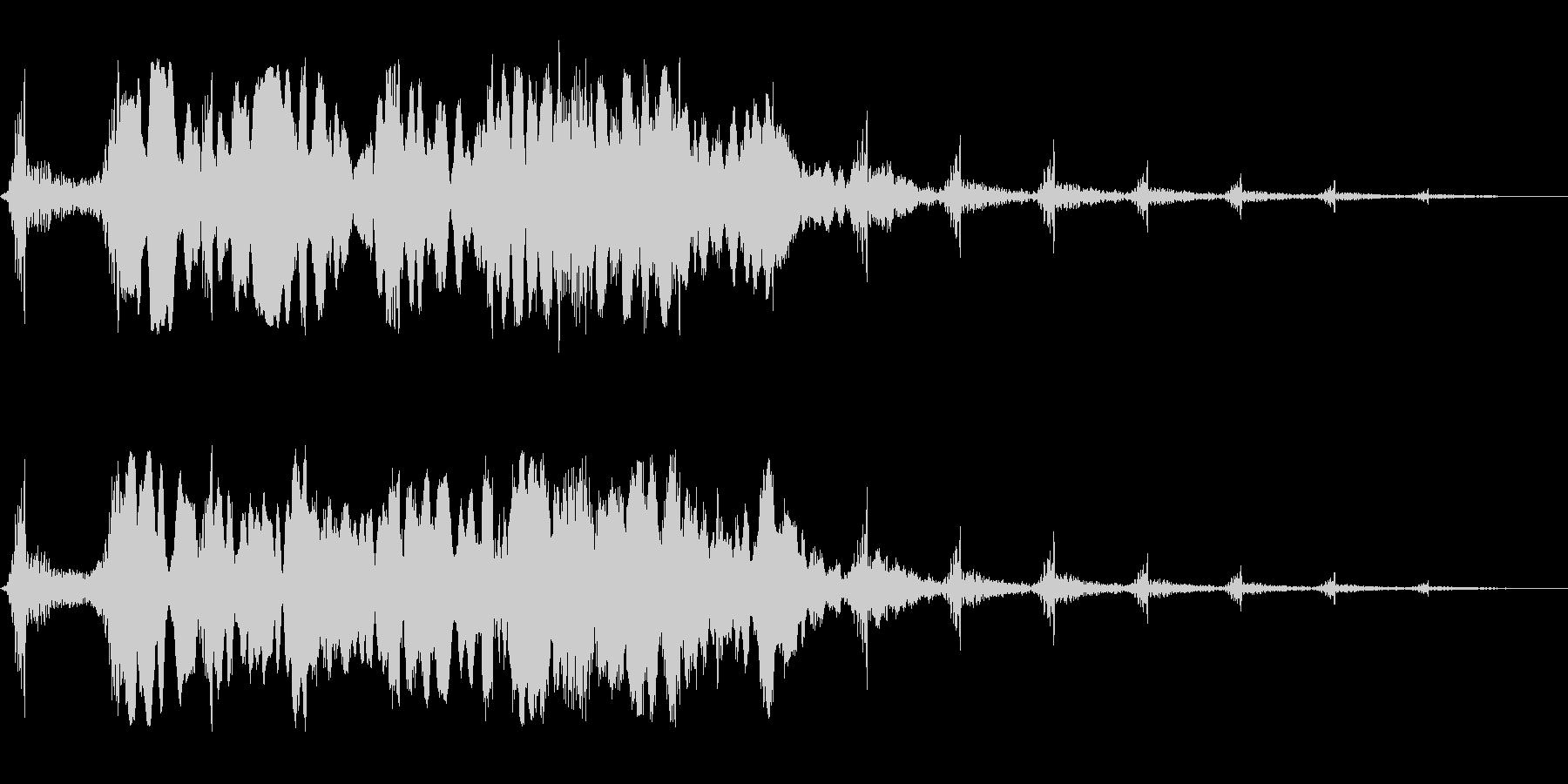 ヒュ〜・・ホワ〜ン(不気味な雰囲気の音)の未再生の波形