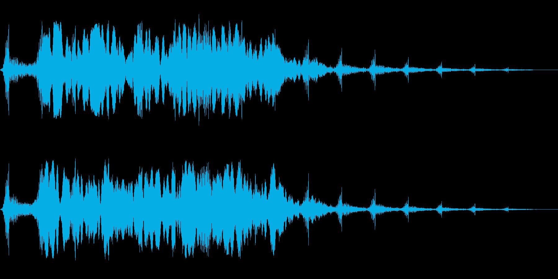 ヒュ〜・・ホワ〜ン(不気味な雰囲気の音)の再生済みの波形
