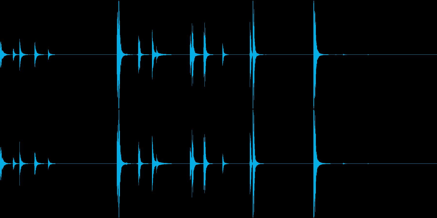 【生録音】手錠の音 1 外そうとするの再生済みの波形