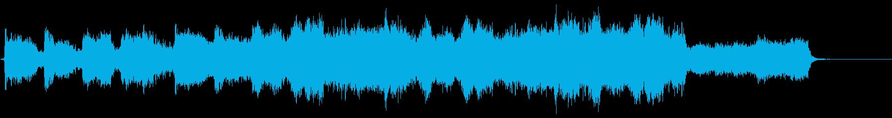 ゴスペル調ハレルヤコーラスとストリングスの再生済みの波形