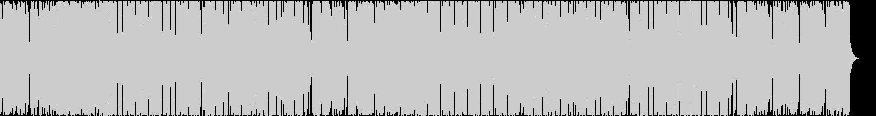 アップテンポなブラスとボイスのEDMの未再生の波形