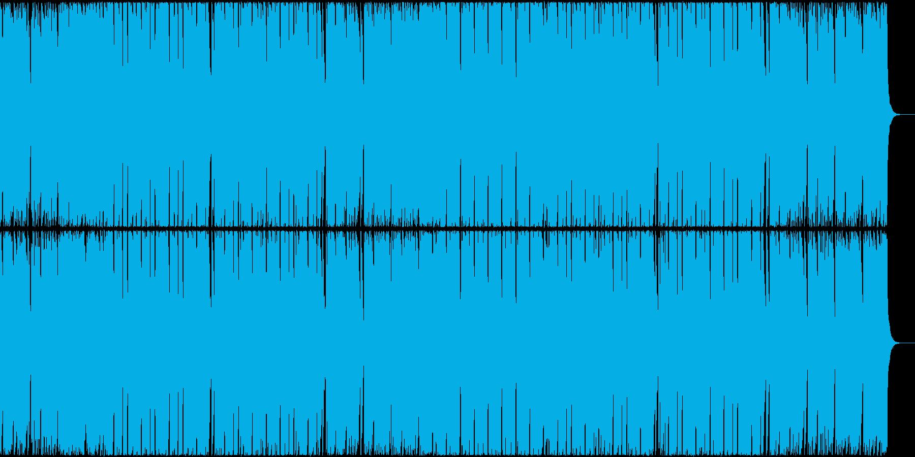 アップテンポなブラスとボイスのEDMの再生済みの波形