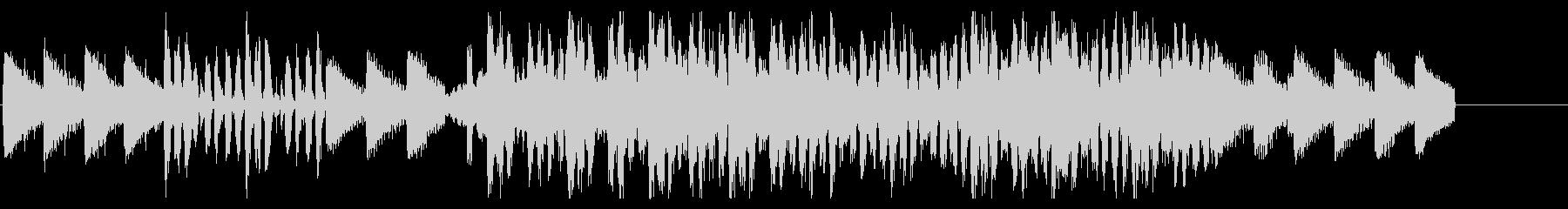 ピアノメインで疾走感のある短尺動画用楽曲の未再生の波形