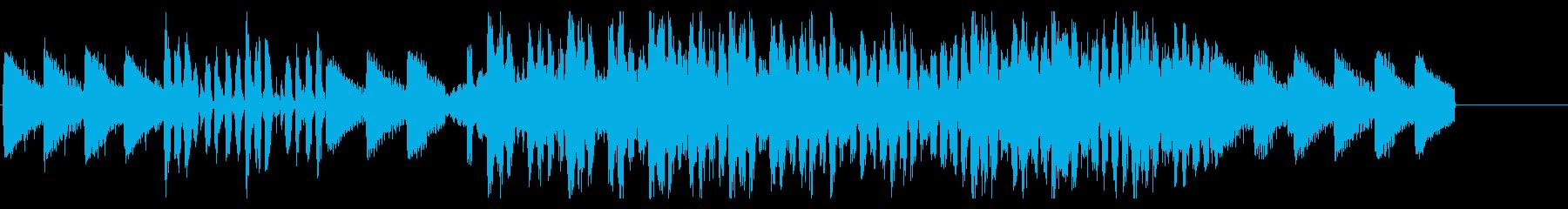 ピアノメインで疾走感のある短尺動画用楽曲の再生済みの波形