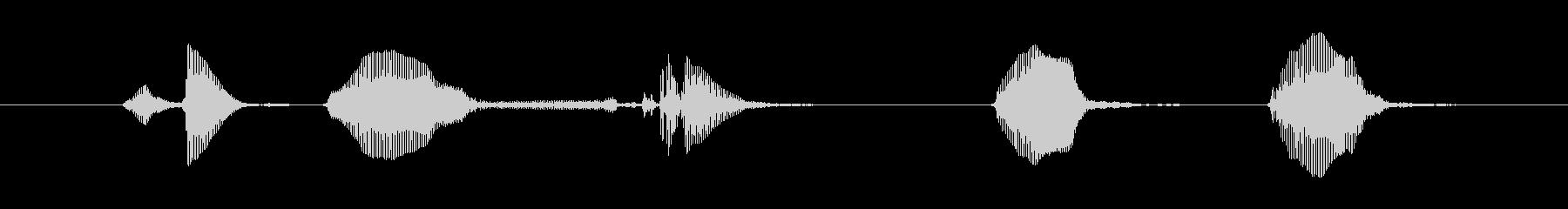 ワン…ワンワン!(犬の鳴き声)の未再生の波形