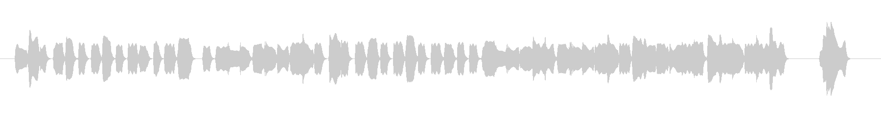 陽気なオカリナのジングルニ長調の未再生の波形