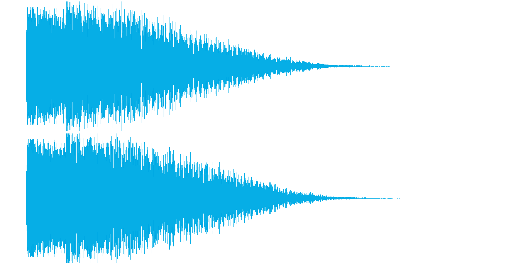 光り系衝撃インパクトの再生済みの波形