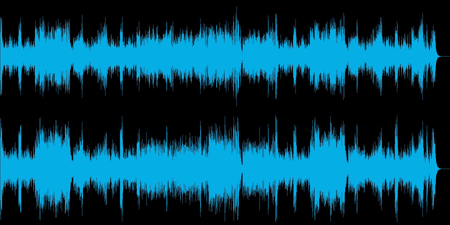 運動会で定番のにぎやかなクラシック曲の再生済みの波形