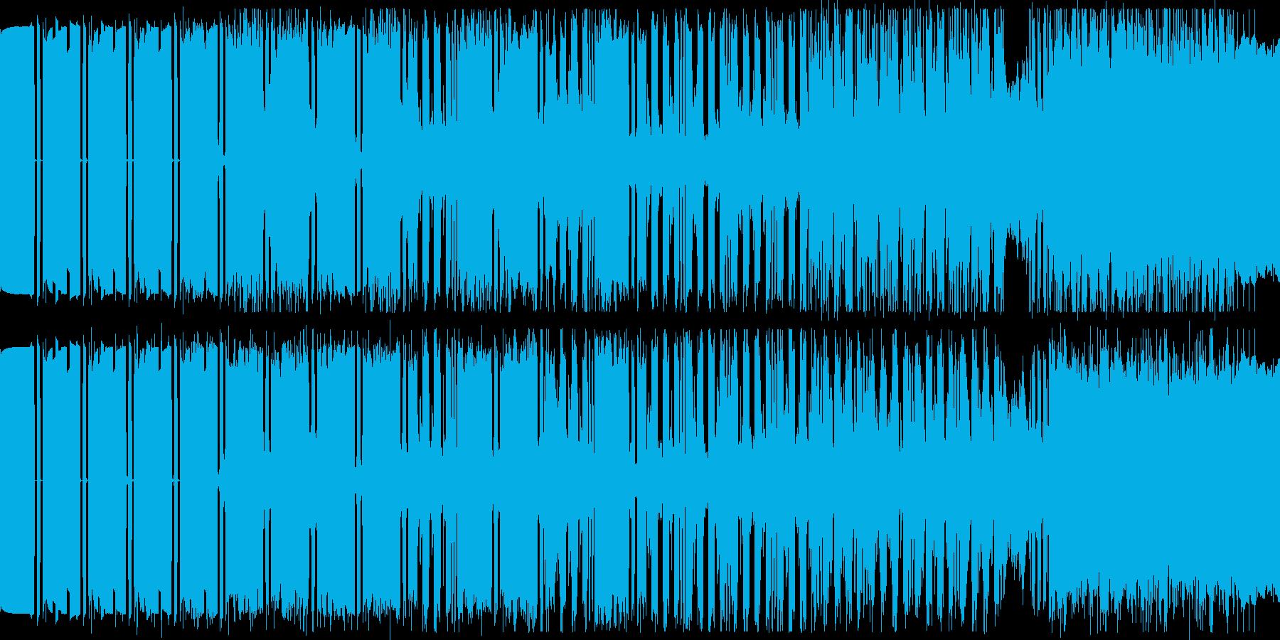 獲物を狙うカエルの歌の再生済みの波形