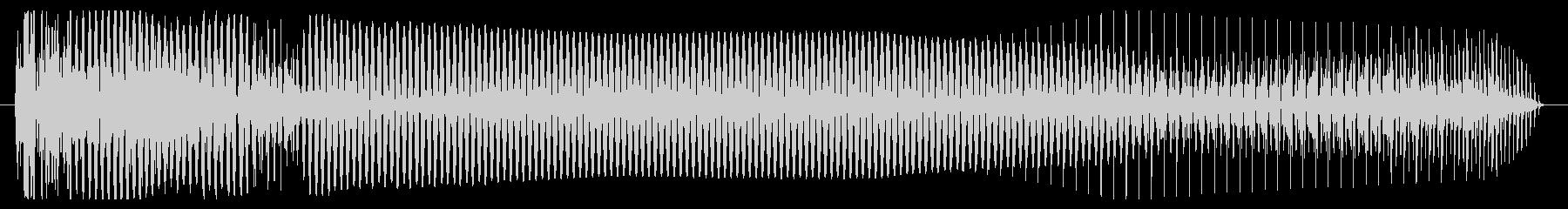 低シンセベースの音のヒットの未再生の波形
