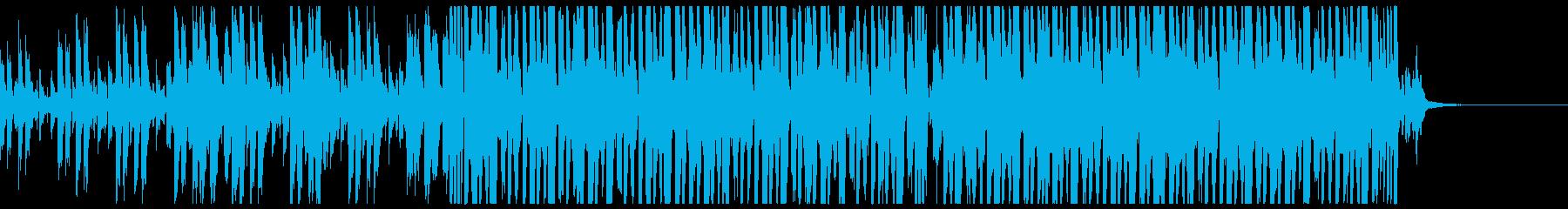 刻みの速い四つ打ちの再生済みの波形
