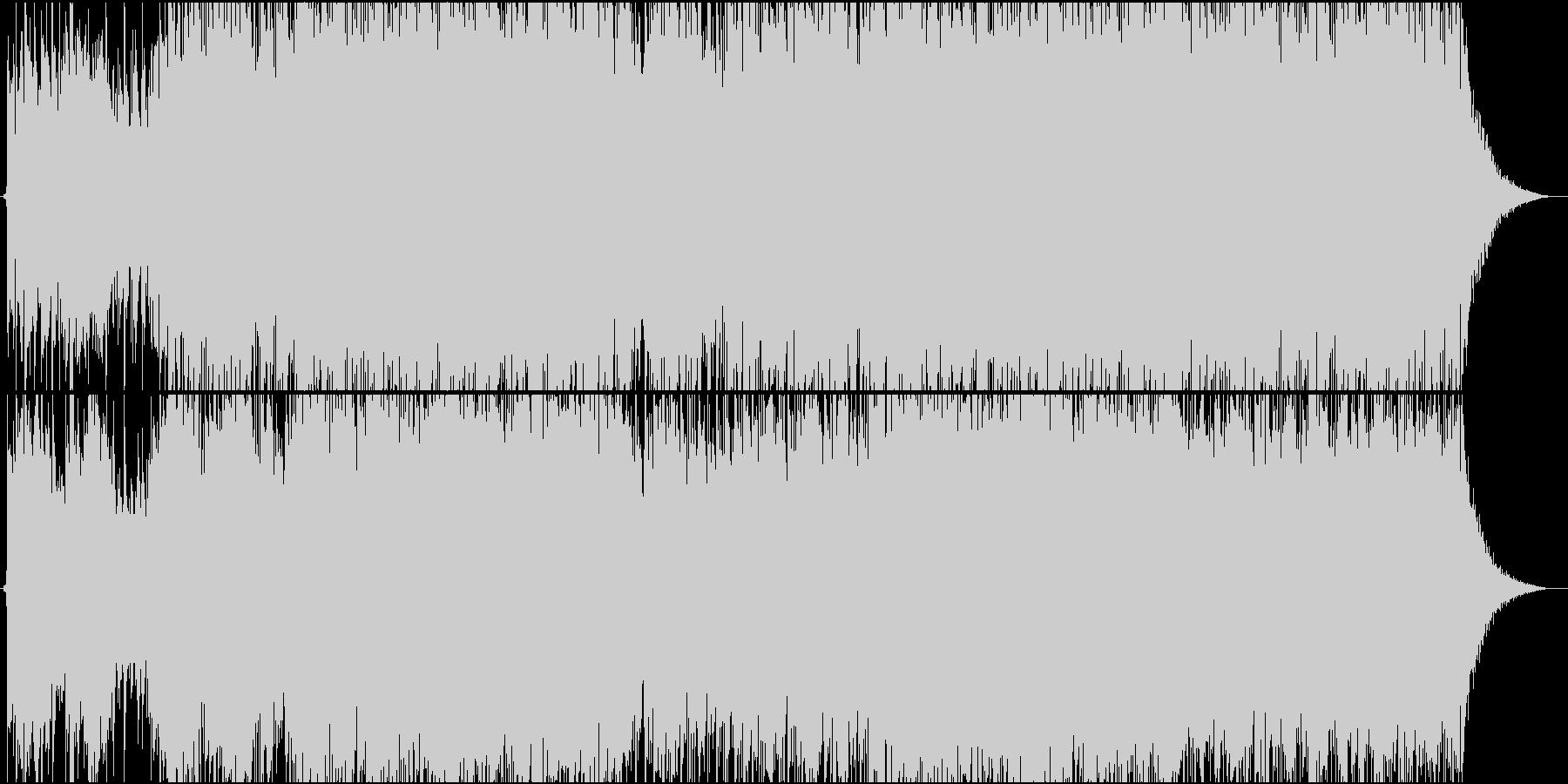 ビンテージのロックバンドトラックの未再生の波形