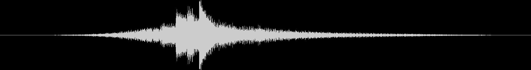 ピアノの音色による優しいサウンドロゴの未再生の波形