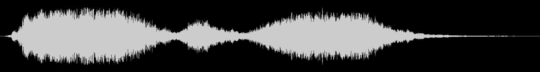 しっとり始まる軽快なオープニング音の未再生の波形