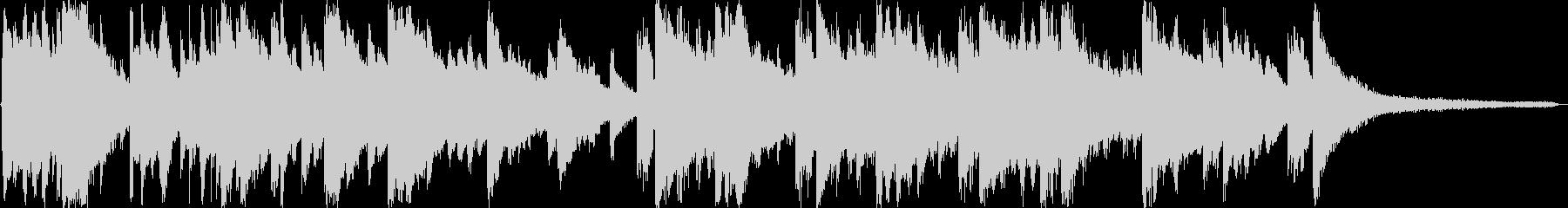 ギター・ピアノのみの切ないバラードの未再生の波形