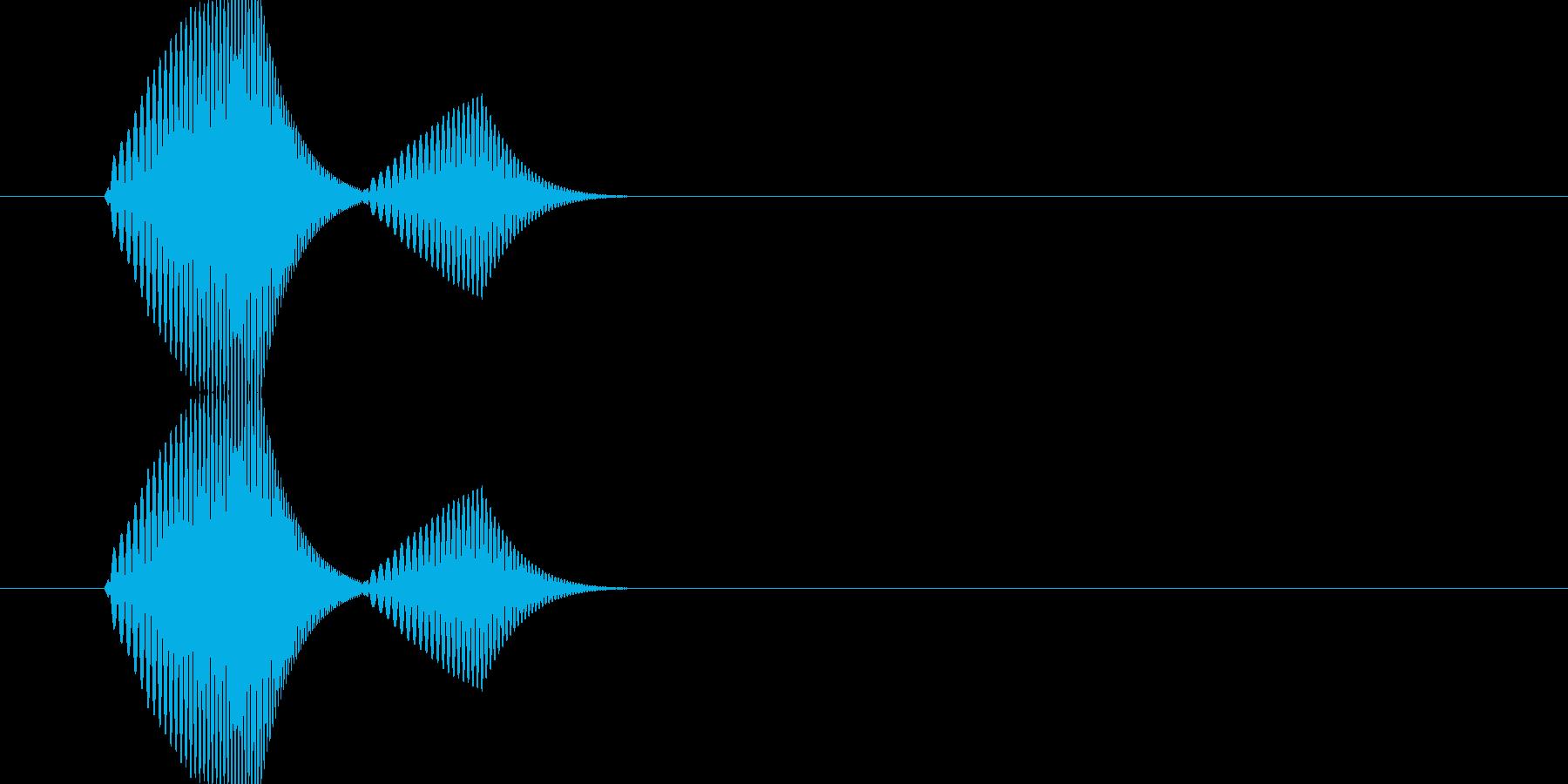 ポヨ(ワンポイント・足跡・スタンプなど)の再生済みの波形