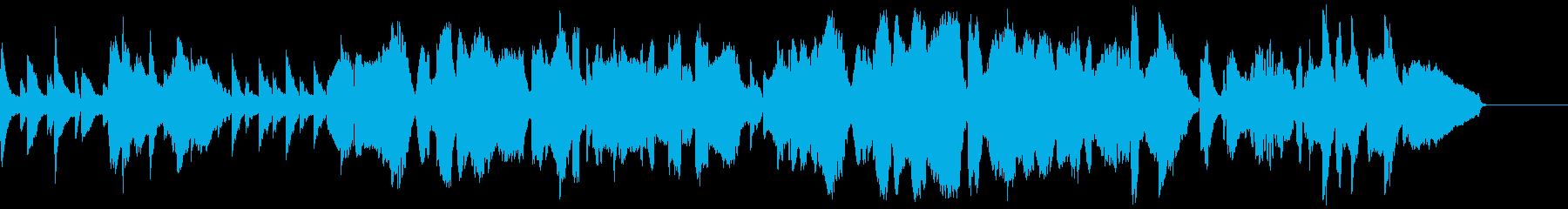 ピアノとチェロとソプラノサックスの曲の再生済みの波形