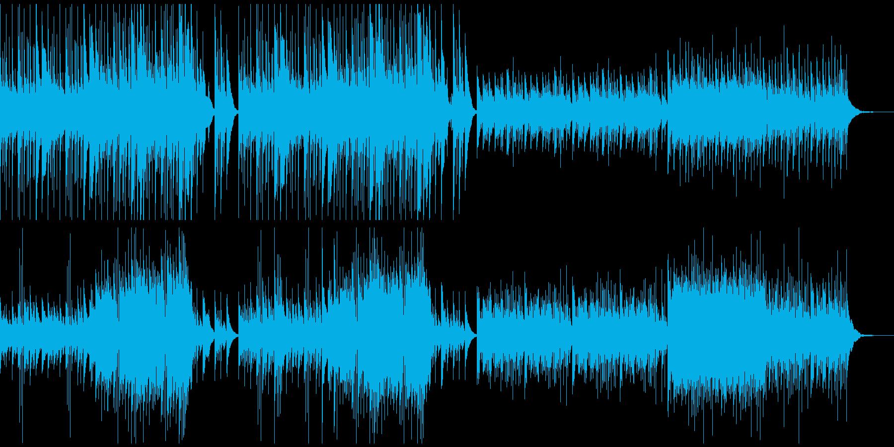 精霊の湖のようなハープの透き通った曲の再生済みの波形