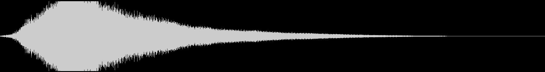 恐怖や超能力を感じさせる金属音1の未再生の波形