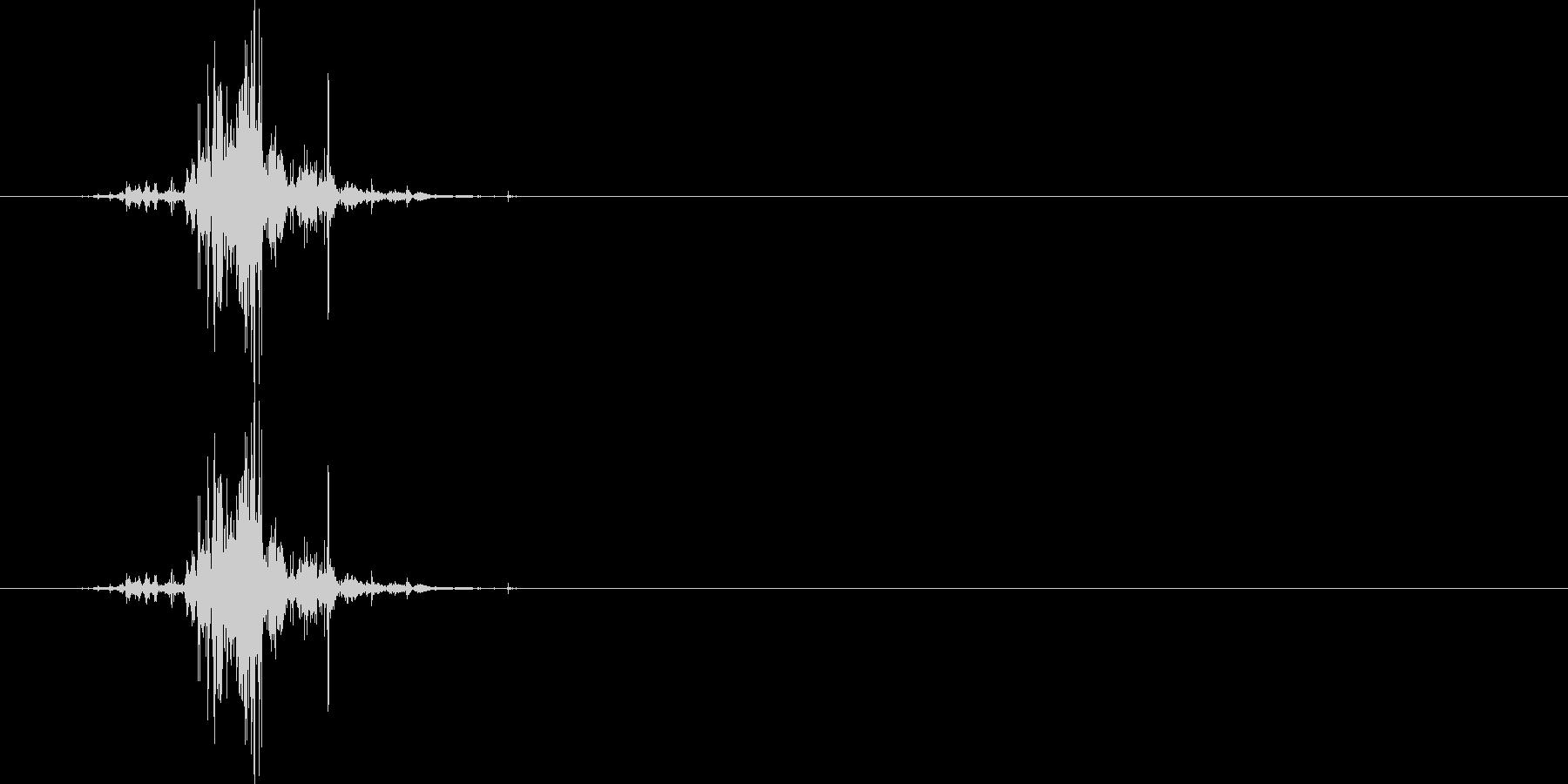 ライター着火音(100円、石)の未再生の波形