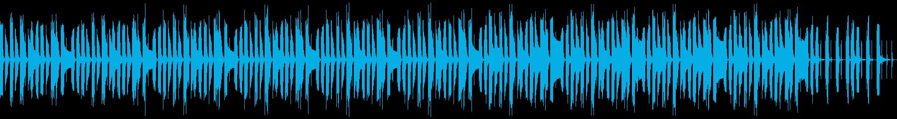 マリンバの可愛くて愉快な曲(ループ)の再生済みの波形