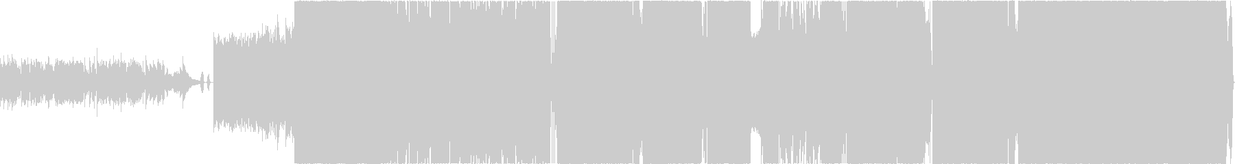 疾走感のあるポップパンクの未再生の波形